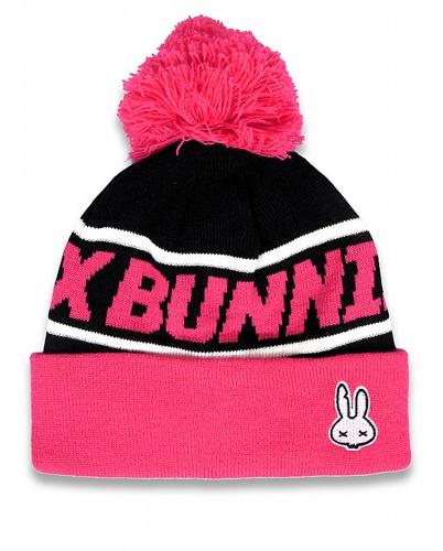 POM-POM pink, Six Bunnies Kids, Beanies at Switchblade Clothing